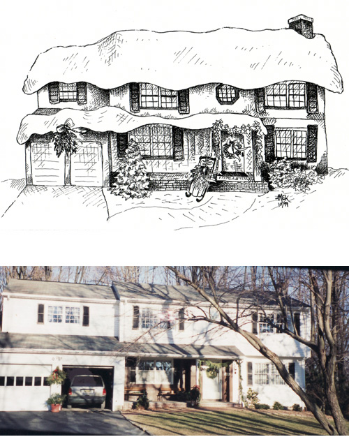 This Is An Example Of My House Drawings Available For Commission